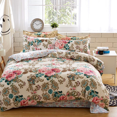 Bedding Set Reactive Printing (4 pcs for Full / King / Queen Sizes)
