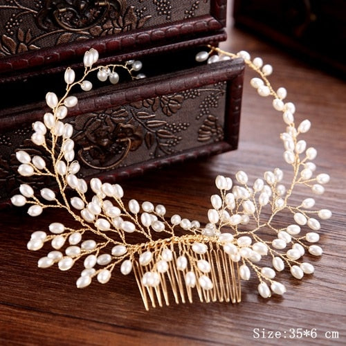 Pearl Hair Comb Wedding Hair Ornaments Bridal Headdress