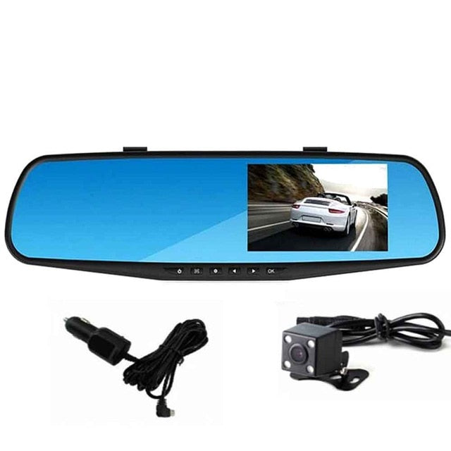Car DVR Camera Rearview Mirror Digital Video Recorder Auto Camcorder Dash Cam