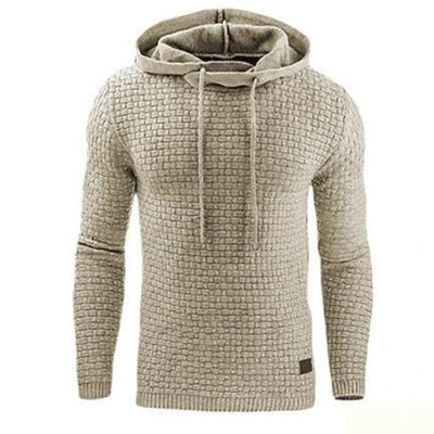 Autumn Winter Warm Knitted Men's Sweater Casual Hooded Pullover