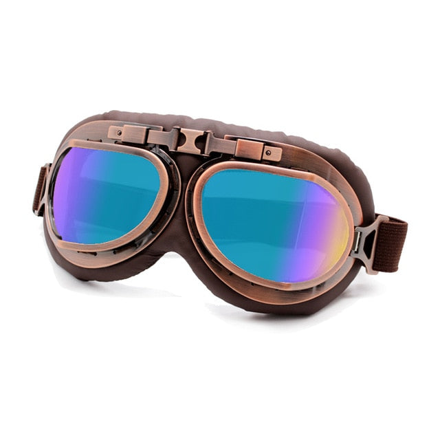 Motorcycle Glasses Vintage Style with  UV Protection