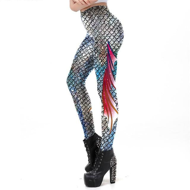 Galaxy Mermaid Leggings Women  Printed Workout Legging
