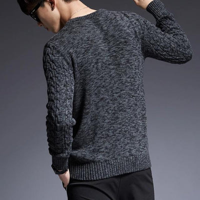 Sweater for Men O-Neck Slim Fit Jumpers Knitwear Thick for Autumn / Winter