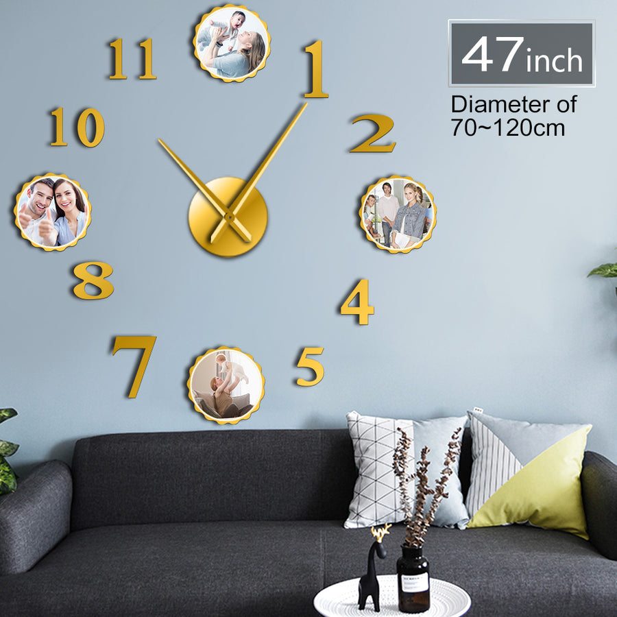DIY Personalized Images Wall Clock