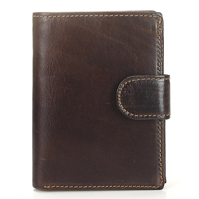 Genuine Leather Wallet - Vintage Style