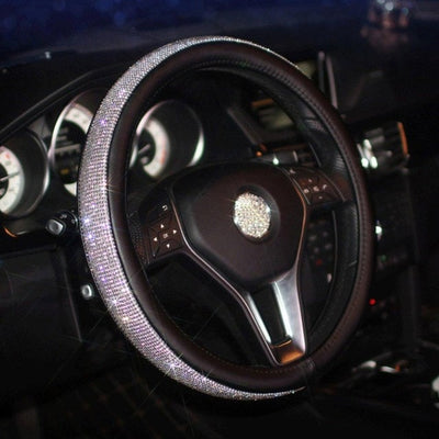 Crystal Rhinestone Diamond Steering Wheel Cover Car Styling Auto Accessories Set Series for Girl