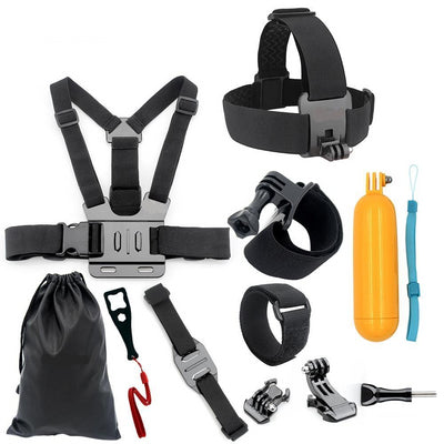 Action Camera Accessories for Gopro Head Strap Chest Strap Helmet Belt Floaty Bobber Wrist Band