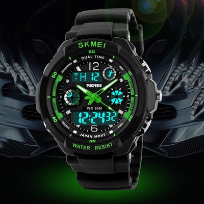 Men Dual Display Sport Watch