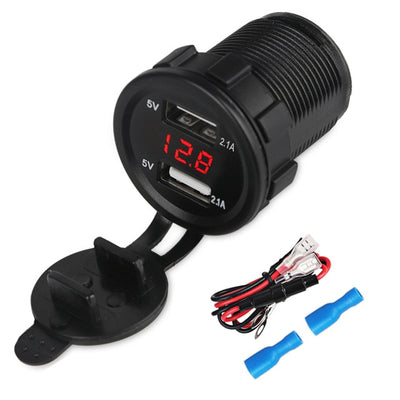 Voltage Meter USB Car Charger