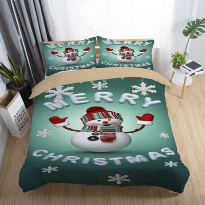 3D Printed Merry Christmas Bedding Set Queen/Twin/King Size Christmas Decoration for Home
