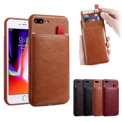 Stand Personalized Phone Case Luxury PU Leather Card Slots For iPhone 11 6 6S 8 7 Plus
