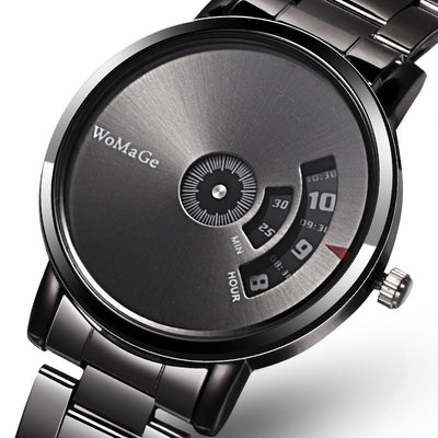 Creative Stainless Steel Wristwatch for Men