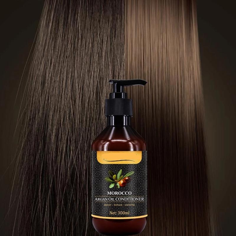 2 pieces Morocco Argan Oil Hair Conditioner for Curly Hair Repair Split