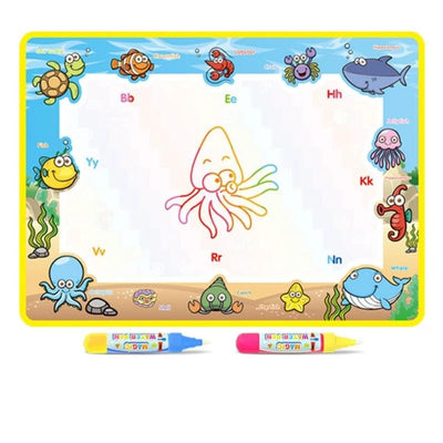 Rainbow Water Drawing Mat Coloring Books Water Painting Rug