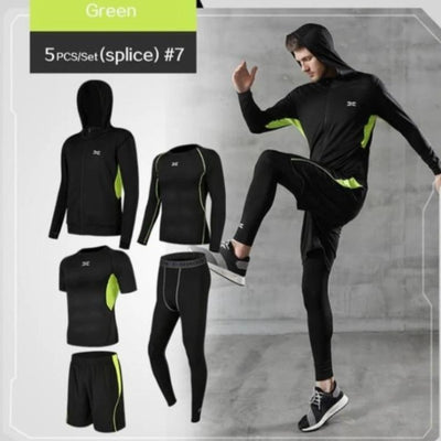 Men's Sport Suits Gym Fitness Compression