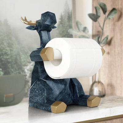 Elephant / Deer Statue Craft Home Decoration Roll Paper Holder for Living Room / Office / Restaurant