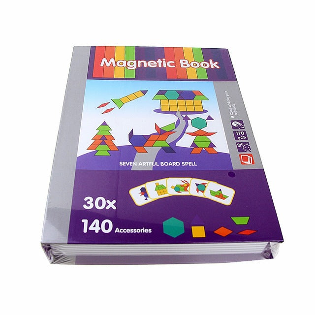 3D Magnetic Book Kids Puzzles Jigsaw Toy Brain Training Game Learning Spell Puzzle Educational Toys for Children