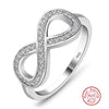 925 Sterling Silver Infinity Ring Endless Love Symbol Fashion Rings for Women