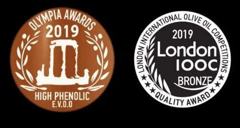 Olympia Award 2019 High Phenolic E.V.O.O & London IOCC Bronze | Parnon Estates Olive Oil Awards