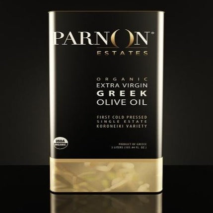 3 Liter Organic Greek Olive Oil | Parnon Estates