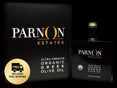 Parnon Estates Ultra-Premium Organic Greek Olive Oil | 6 Gift Boxes