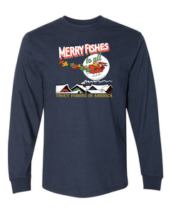 Merry Fishes To All Adult T-Shirt