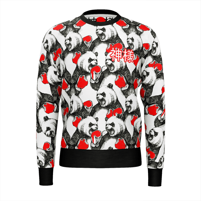 Boxing Pandas Sweater KamiSama