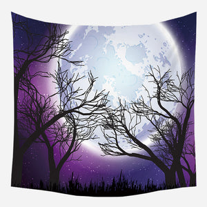 Purple Night Tapestry Wall Hanging Tapis Cloth