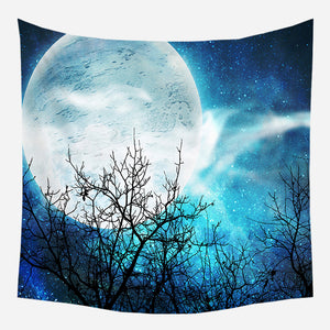Blue Night Tapestry Wall Hanging Tapis Cloth