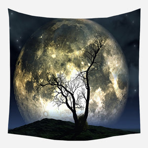 Moon Beauty Tapestry Wall Hanging Tapis Cloth