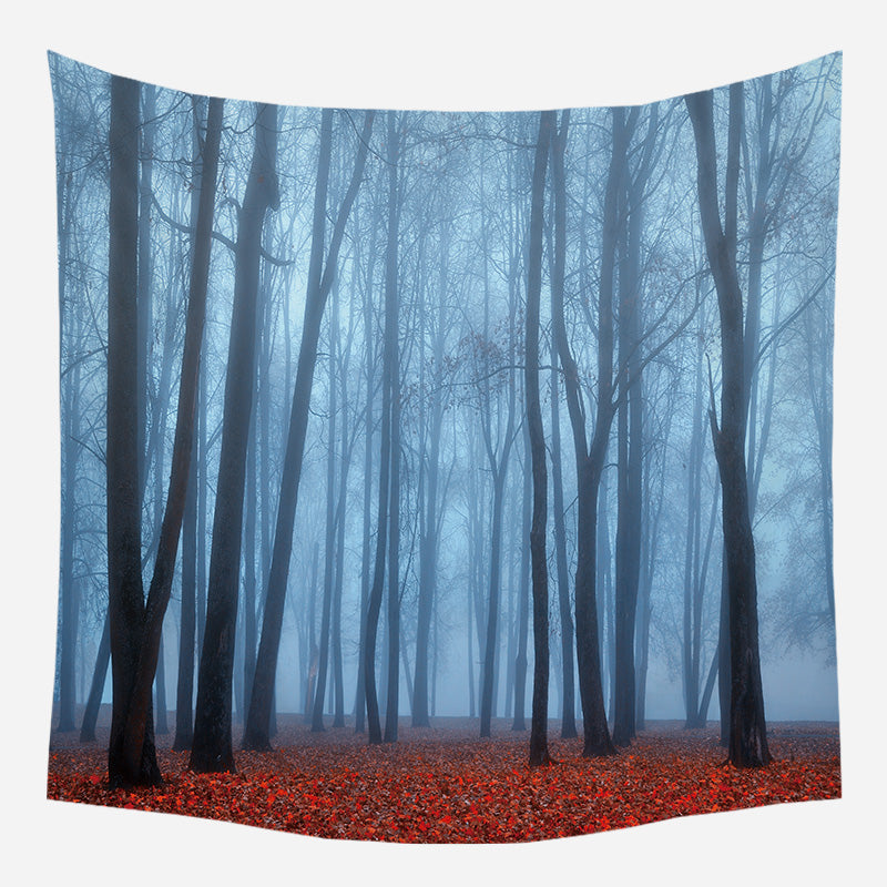 Long Forest Trees Tapestry Wall Hanging Tapis Cloth
