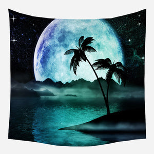 Tropical Sunset Tapestry Wall Hanging Tapis Cloth