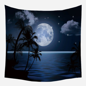 Original Moon Seashore Tapestry Wall Hanging Tapis Cloth