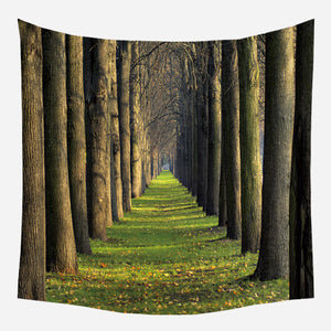 The Green Tunnel Tapestry Wall Hanging Tapis Cloth