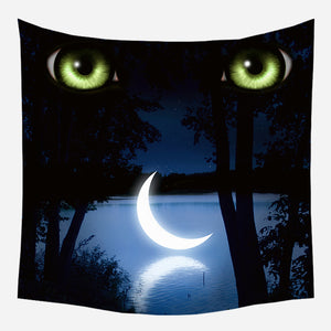 Deep Eyes Tapestry Wall Hanging Tapis Cloth