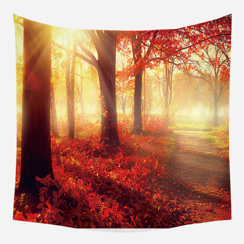 Autumn Trees Tapestry Wall Hanging Tapis Cloth