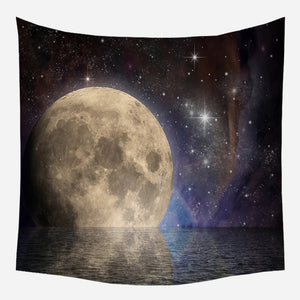 Amazing Moon Tapestry Wall Hanging Tapis Cloth
