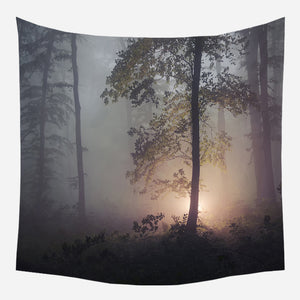 Evenings In Woods Tapestry Wall Hanging Tapis Cloth