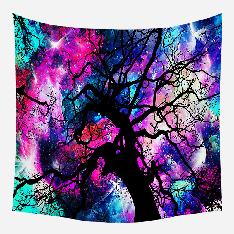 Original Neon Color Tree Tapestry Wall Hanging Tapis Cloth