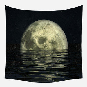 Original Half Moon Tapestry Wall Hanging Tapis Cloth