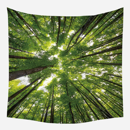 Forest Up View Tapestry Wall Hanging Tapis Cloth