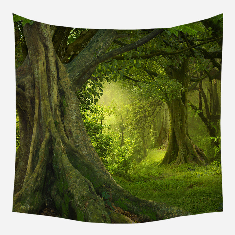 Dense Forest Tapestry Wall Hanging Tapis Cloth