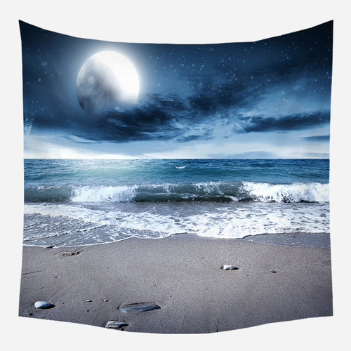 Evening Beachside Tapestry Wall Hanging Tapis Cloth