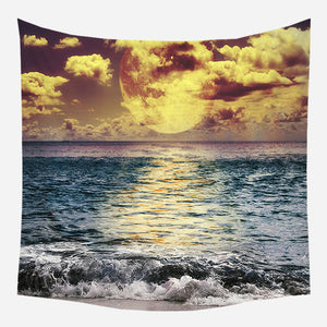 Horizon Moon Tapestry Wall Hanging Tapis Cloth