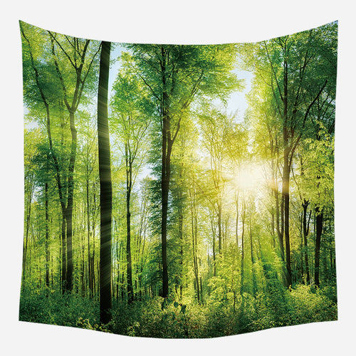 Forest Morning Sunlight Tapestry Wall Hanging Tapis Cloth