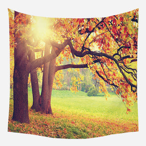 Original Yellow Silhouette Tapestry