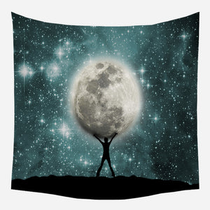 Moon Lift Tapestry Wall Hanging Tapis Cloth