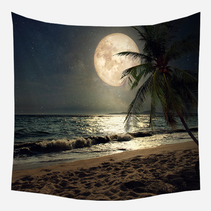 Original Moonside Coconut Tapestry Wall Hanging Tapis Cloth