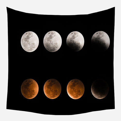 Galaxy Moon Tapestry Wall Hanging Tapis Cloth