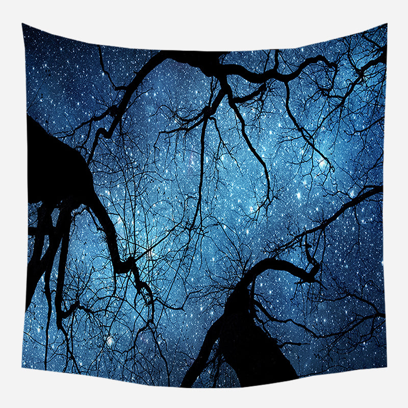Original Night Trees Tapestry Wall Hanging Tapis Cloth